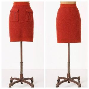 Anthropologie sweater skirt in spice by Moth M